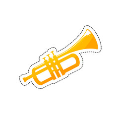 A trumpet is a musical instrument