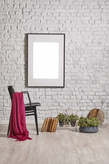 frame on the wall and home decoration style