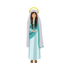colorful figure human of saint virgin maria vector illustration