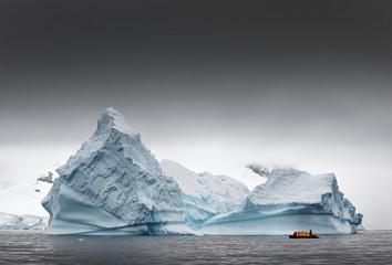 Icebergs in Antarctica.