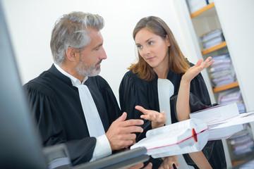 judges in discussion