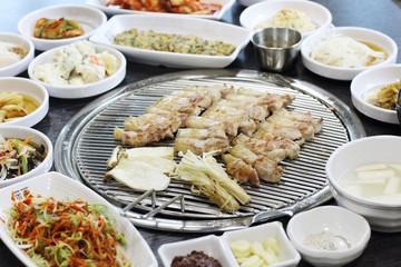 Grill pork bbq in korea style, samgyupsal