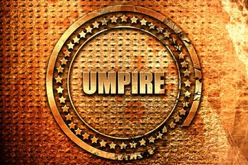 umpire, 3D rendering, grunge metal stamp