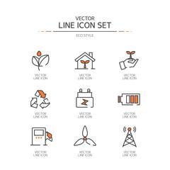 eco  Line icon set