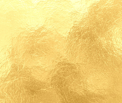 luxury gold background with marbled crinkled foil texture, old elegant yellow paper with textured creases