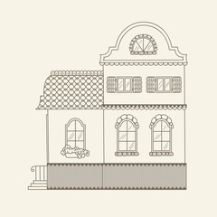 Hand drawn vector house