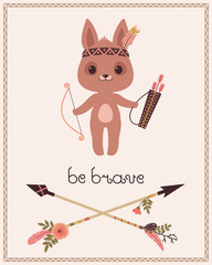Be brave children's poster