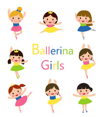 Illustration of Girls Doing Ballet