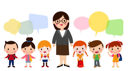 School children and teache