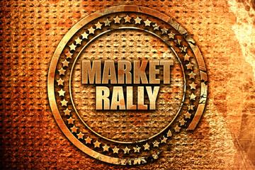 market rally, 3D rendering, grunge metal stamp