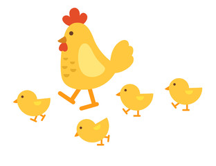 illustration of isolated chicken on white background