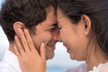 Woman in love with boyfriend