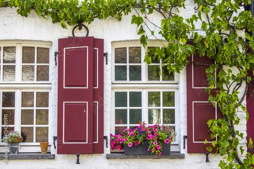 Old German House With Windows With Wooden Shutters Stockfotos Und Lizenzfreie Bilder Auf