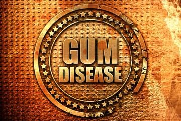 gum disease, 3D rendering, grunge metal stamp