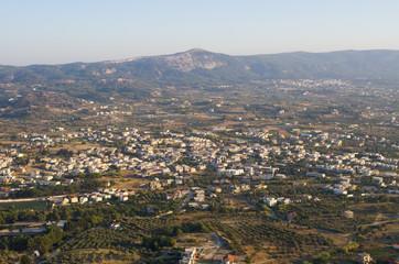 Landscape from Filerimos Hill, Rhodes island, Greece