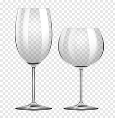 Two different types of wine glasses