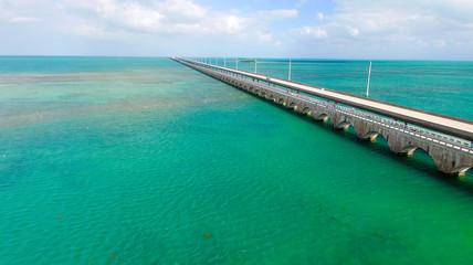 Bridge over Florida Keys, aerial view