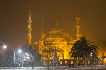Istanbul snow and winter.