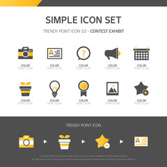 Competition Simple icon set