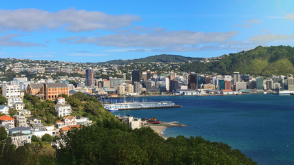 Canvas Prints New Zealand Panoramic view of Wellington, New Zealand