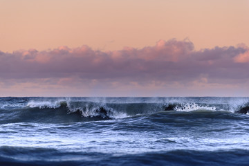 Waves on stormy day