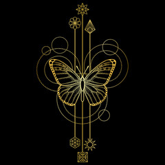 Abstract Butterfly Symbol
