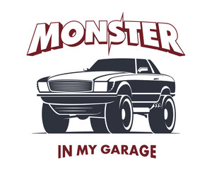 Monster truck coupe sign