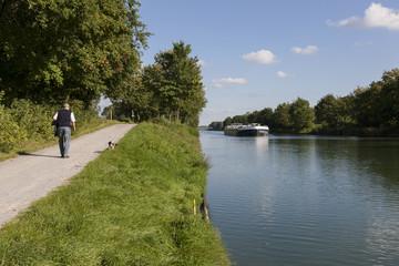 Spaziergang am Kanal bei Dorsten