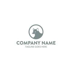 Unique Fox Logo Template