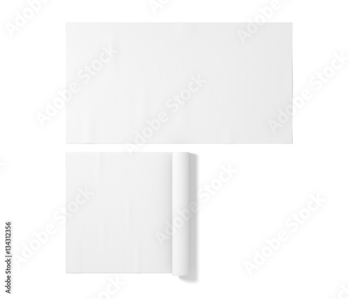 """Blank White Rubber Sport Mat Mockup, Isolated, 3d"