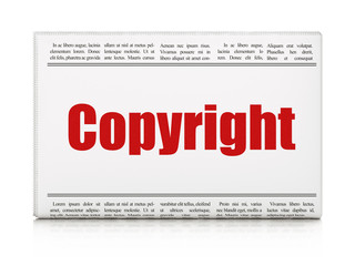 Law concept: newspaper headline Copyright