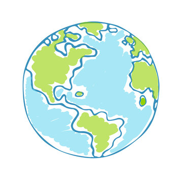 Globe kids. Children Earth day. Vector