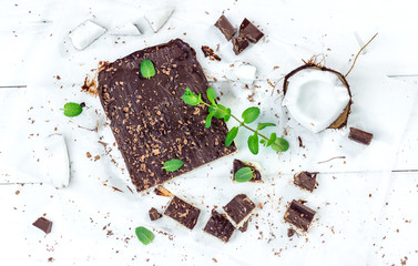 Healthy version of vegan coconut cake