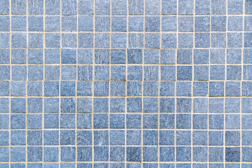 Blue Mosaic floor tile for texture background