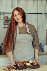 Woman pastry in the kitchen