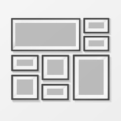 Blank Picture or Foto Frame for Interior. Vector