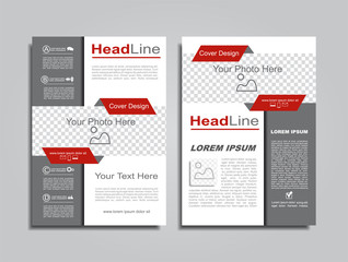 Brochure design layout with place for your data. Vector.