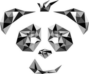 panda face abstract logo