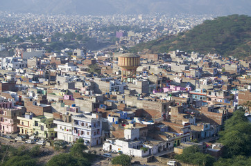 cities of Jaipur view from height