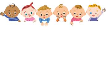 赤ちゃん集合