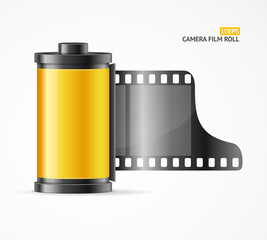 Camera Film Roll Cartrige. Vector
