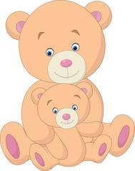 Keuken foto achterwand Sprookjeswereld Mother and baby bear cartoon