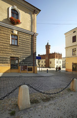 Townhouse at marketplace in Tarnow. Poland