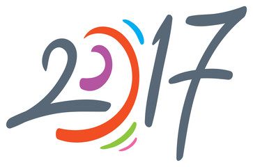new year 2017 year hand drawn vector