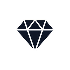 Diamond Icon Illustration Isolated Vector Sign Symbol