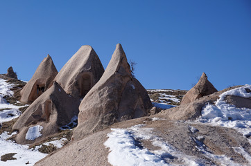 Kapadokya'da mağara evler