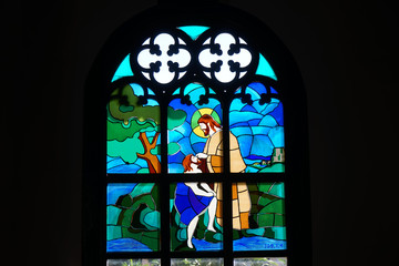 Stainglass in Wooden church