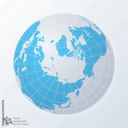 Global image northern hemisphere world map earth vector graphic global image northern hemisphere world map earth vector graphic gumiabroncs Image collections