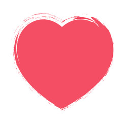 Red Heart painted brush background