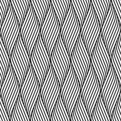 Vector seamless pattern. Modern stylish texture. Repeating geometric pattern of curving lines.